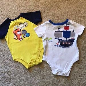 2 size 6-9 months onesies